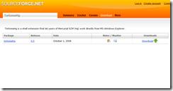 SourceForge Mercurial/TortoiseHg site